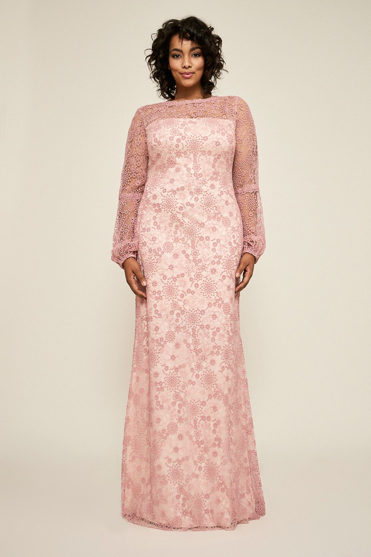 d4db94f481b Neriah Long-Sleeve Lace Gown - PLUS SIZE