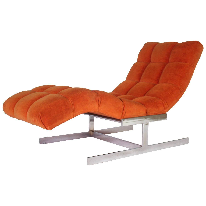 Milo Baughman Wave Chaise Longue Chaise Longue Furniture Chaise