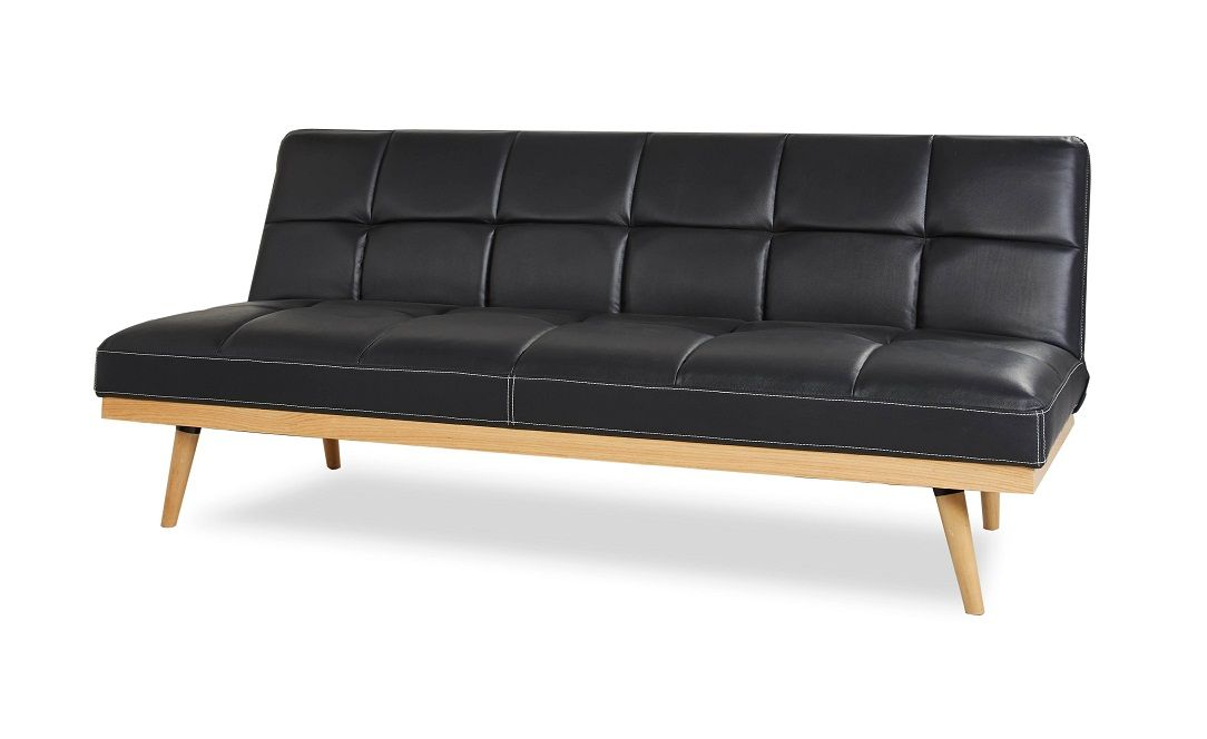 Divano Letto Tre Posti Poltrone E Sofa.Divano Letto Tablet 3 Posti Similpelle Nero Furniture Couch