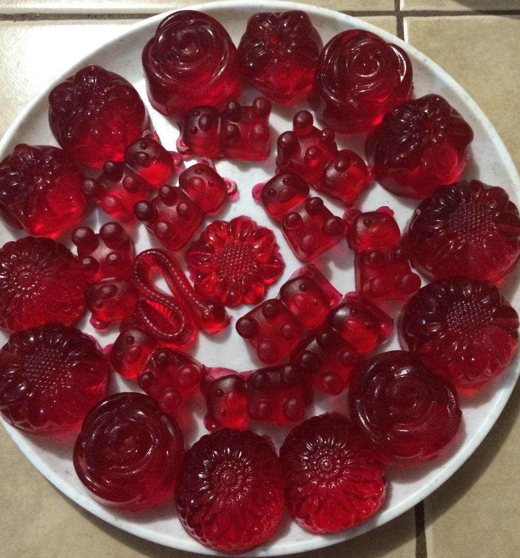 Gomitas de dulce caseras