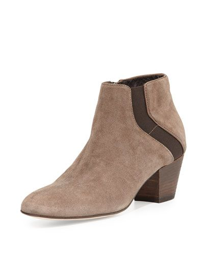 82e0fe4d8d99 S0BHD Aquatalia Fairyn Suede Ankle Boot Designer Boots, Suede Ankle Boots, Bergdorf  Goodman,