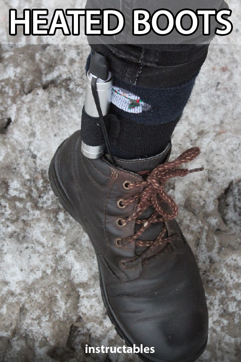 Update an old pair of boots to make them heated so you can
