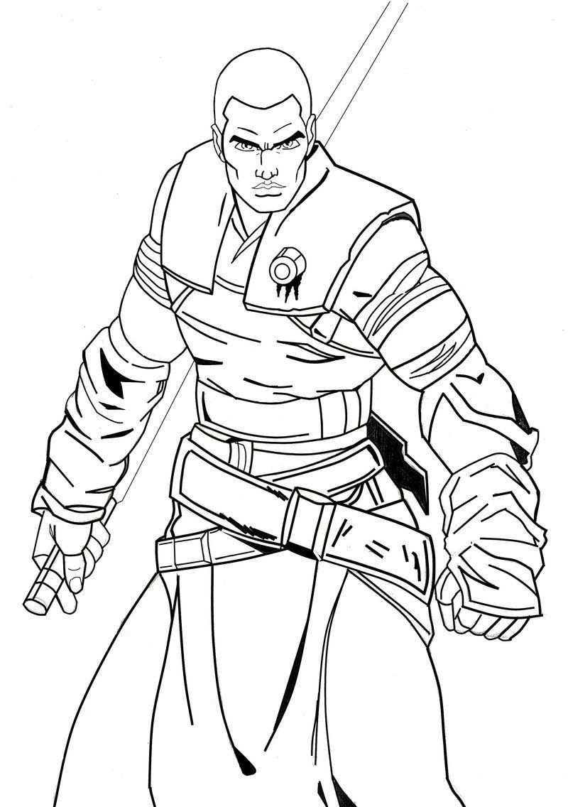 Star Wars Coloring Pages Awesome Galen Marek Starwars By Dmtr1981 On Deviantart Star Coloring Pages Star Wars Coloring Sheet Star Wars Coloring Book