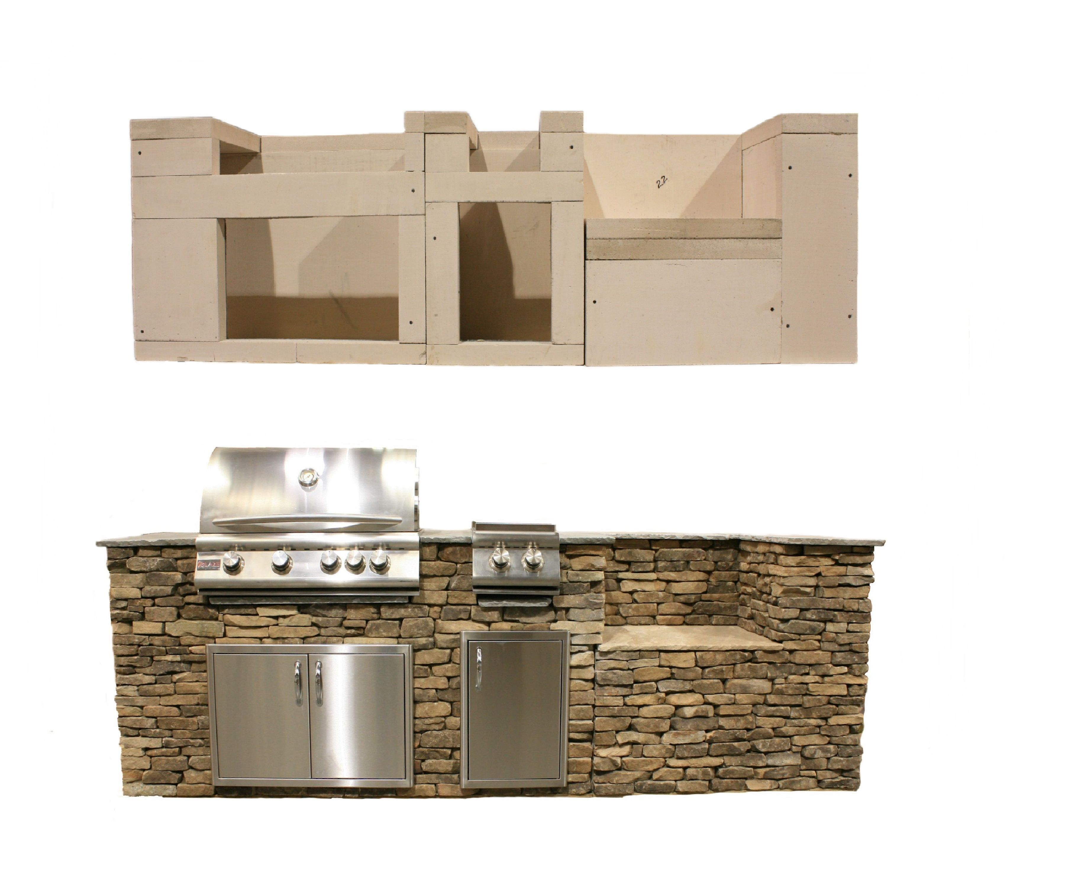 Daco Stone Diy Outdoor Kitchen Kits Easy And Affordable Dacostone Com Lightweight Pieces Easy Stone Veneer Outdoor Fireplace Kits Diy Outdoor Kitchen