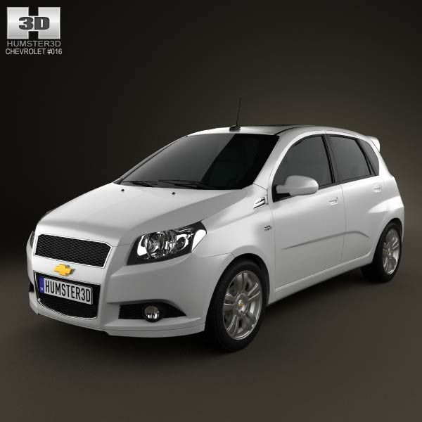 3d Model Of Chevrolet Aveo 5 Door 2009 Renault Twingo Rs