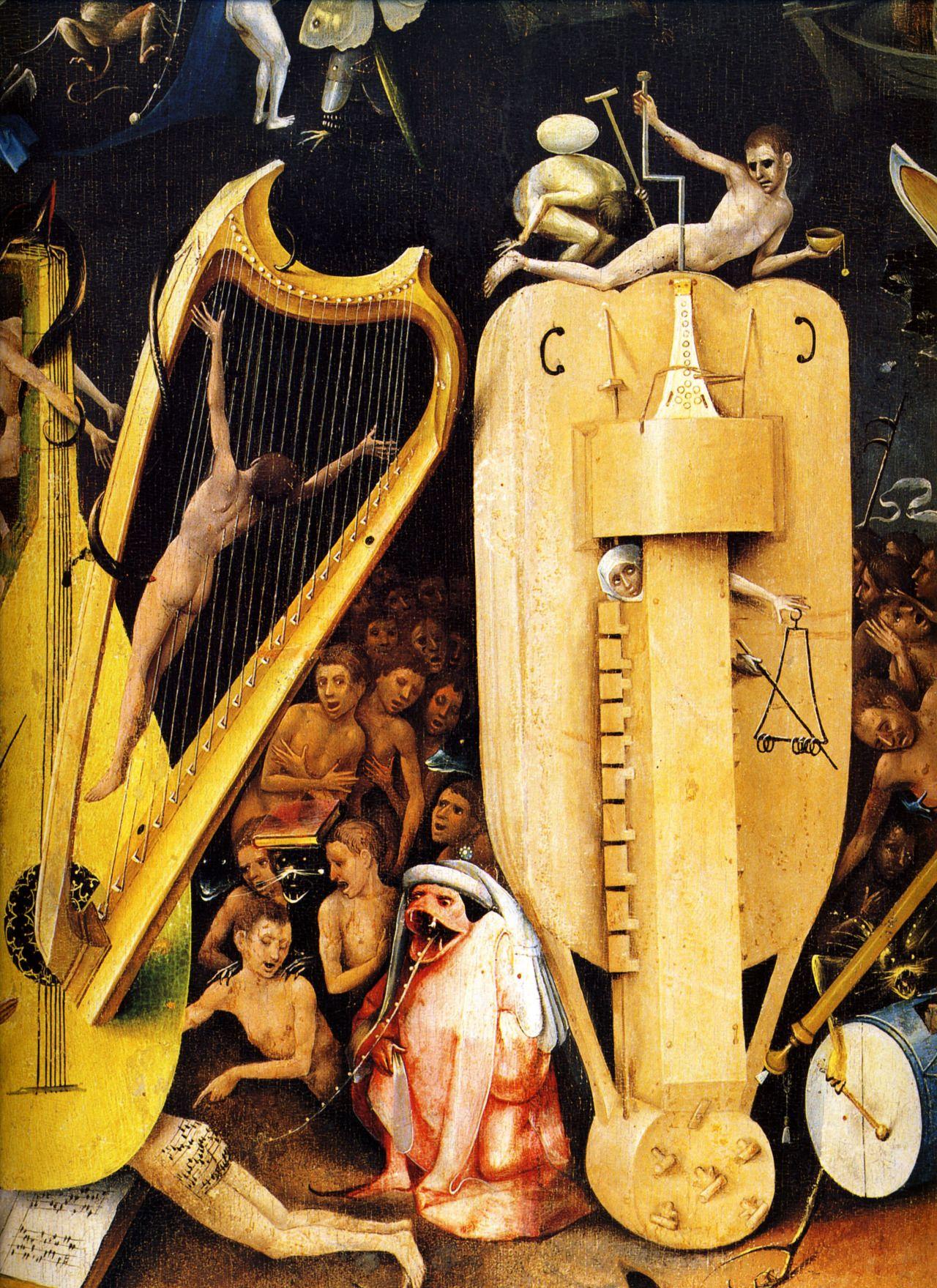 1480 1490 Jér´me Bosch Le Jardin des Délices l Enfer détail La