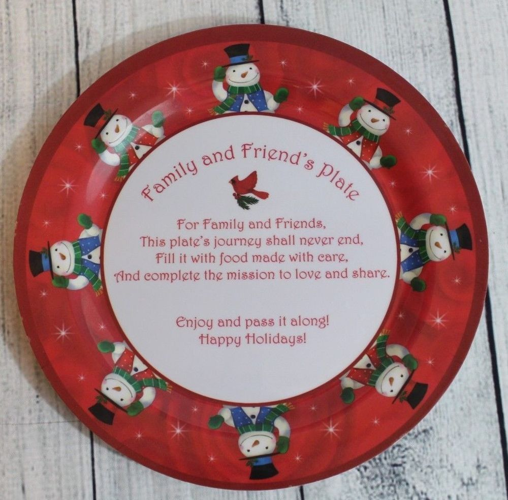 Four Star Friends And Family Plate Christmas Holiday Plastic 11 Round Dish Fourstar Christmas Holidays Raz Imports Christmas Christmas Stocking Holders