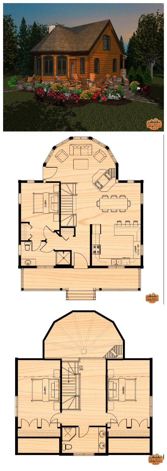 The Two Storey True North Log Homes Sims House Plans Dream House Plans House Floor Plans