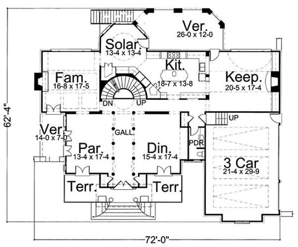 House Plan # 106-1080