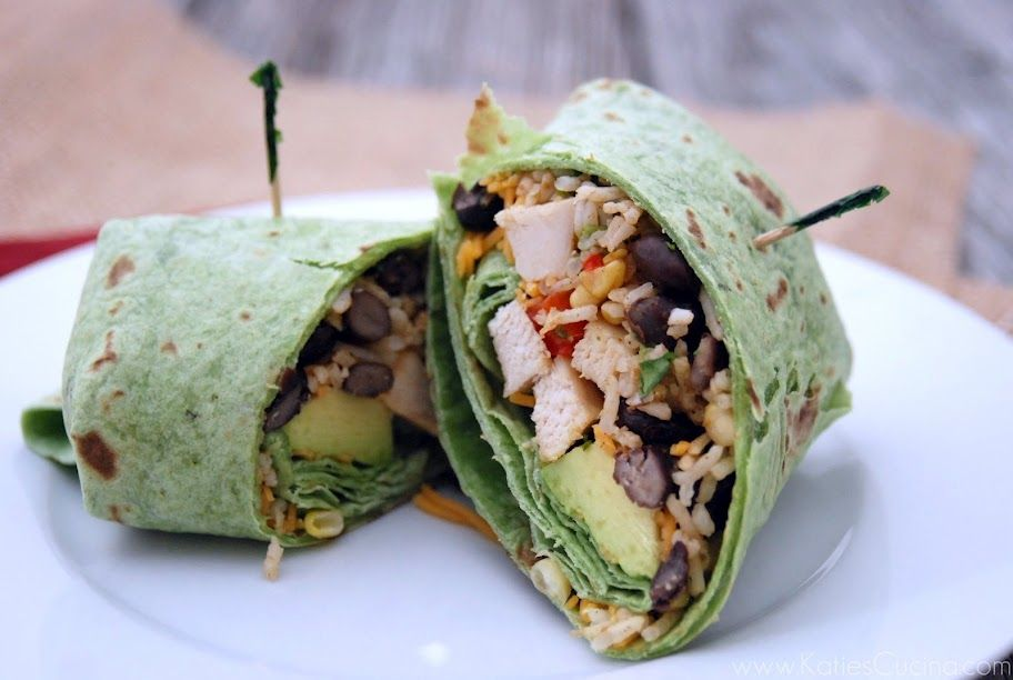 Grilled Chicken and Mexican Rice Wraps from @Katie Schmeltzer Schmeltzer Schmeltzer Jasiewicz