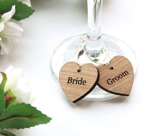 Our Personalised Wooden Wine Gl Charms Make Wonderful Wedding Favours And Name Place Settings Have Each Charm With Your Guests Nam