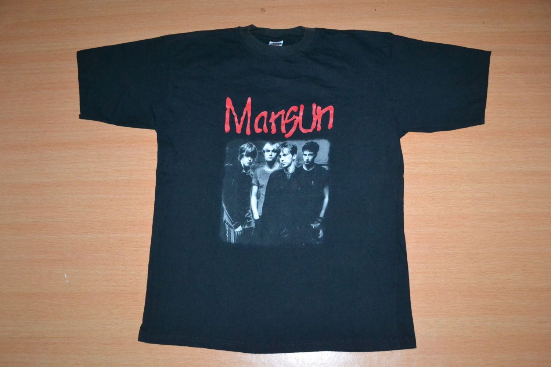 Black sabbath t shirt etsy - Vintage 90s Mansun Concert Tour Promo Rare T Shirt By Oldschoolzone On Etsy