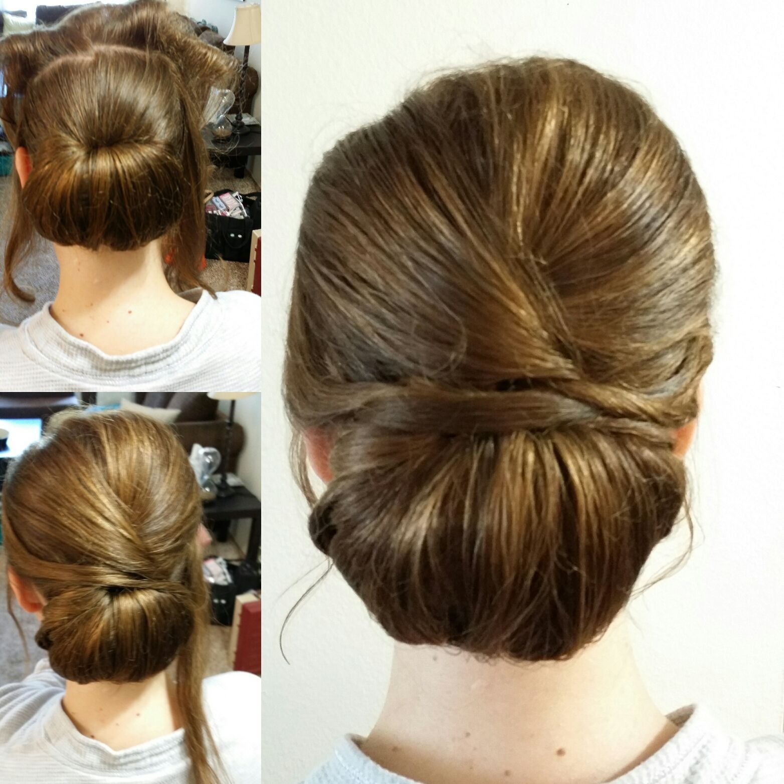 Simple to do low chignon bun for a clean, elegant look   Hair tutorial, Hair styles, Bridesmaid hair