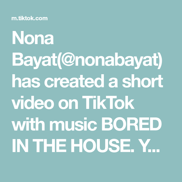 Nona Bayat Nonabayat Has Created A Short Video On Tiktok With Music Bored In The House You Guys Are Doing Great It S At Home Workouts Lower Abs Upper Abs