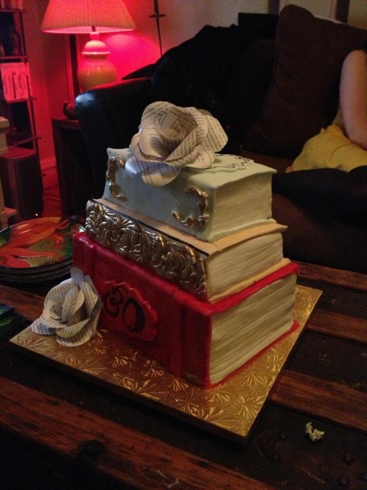 Vintage book cake   Kuchen, Torten