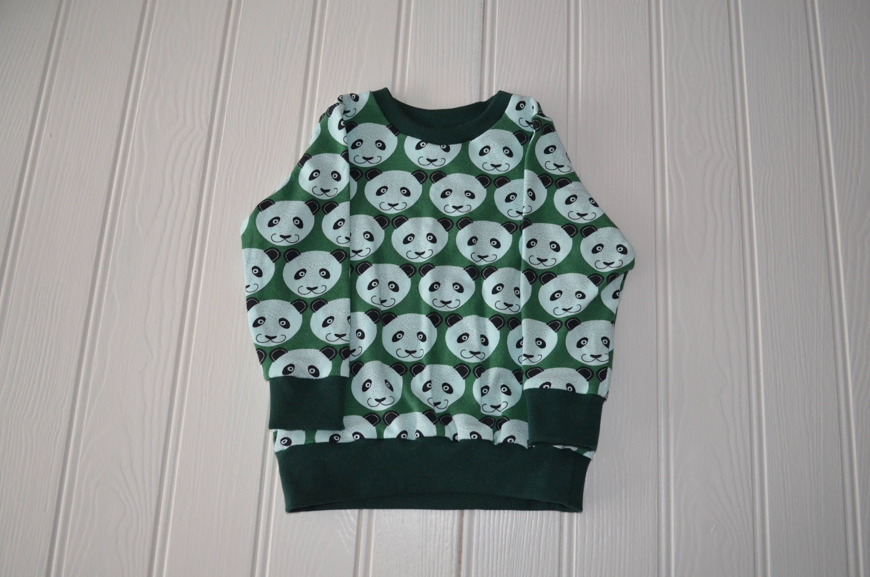 1f887290ad3 Panda sweatshirt, 1 year old jumper, green sweatshirt, 1st birthday ...