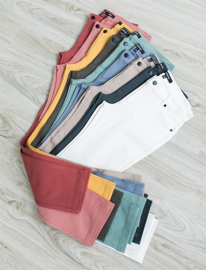 We can't say enough good things about these pants! Available in 10 great colors, these soft pants with 5 pocket detail will be your new wardrobe favorite.