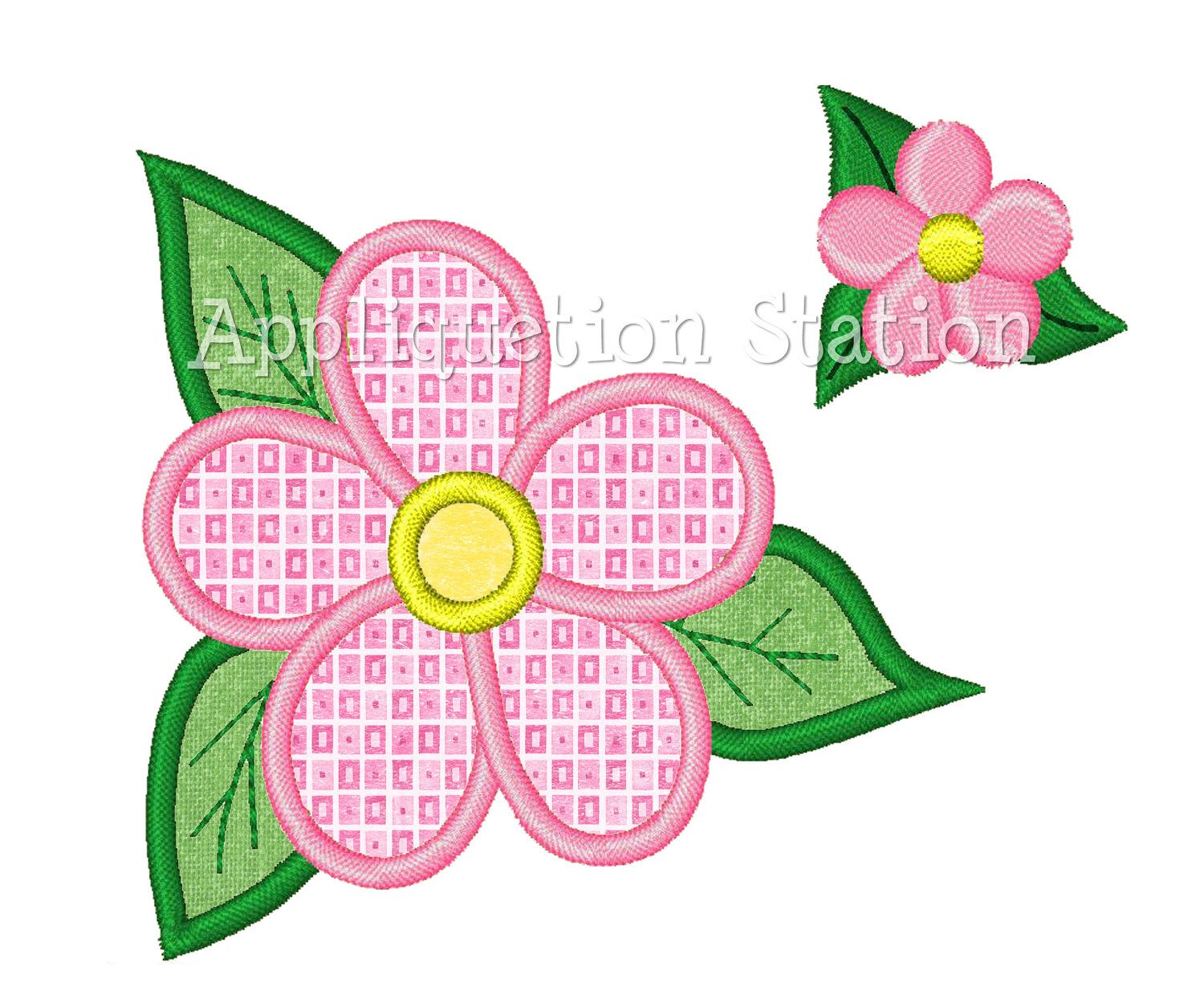 Tropicalflowerwithminiappliquemachinebyappliquetionstation tropical flower with mini applique machine embroidery design matching mini bankloansurffo Images