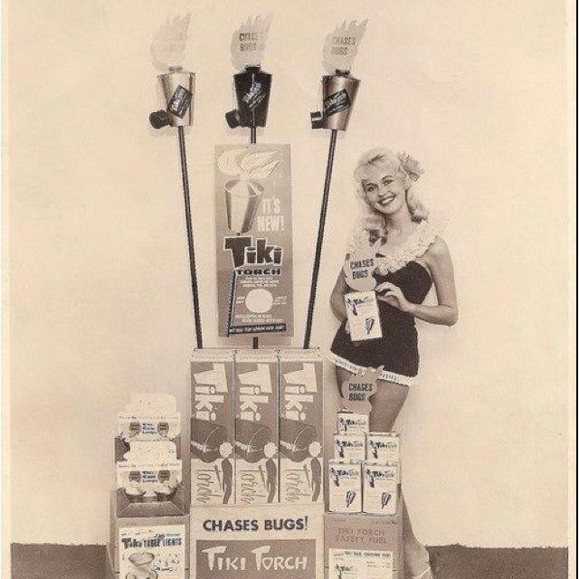 Vintage Tiki Torch