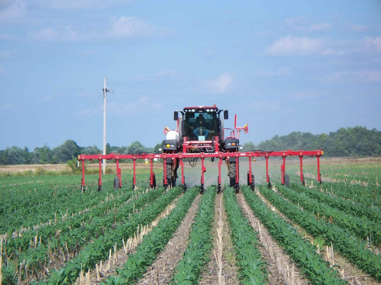 MillerNitro 24-row nitrogen toolbar.    photo credit:  Mike Shuter, Shuter Sunset Farms