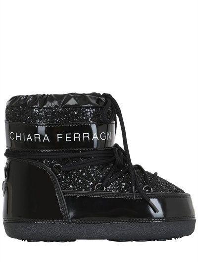e2685d504a7 CHIARA FERRAGNI 30Mm Glitter Snow Boots