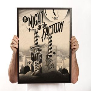 A Night At The Factory Print, $118, now featured on Fab.