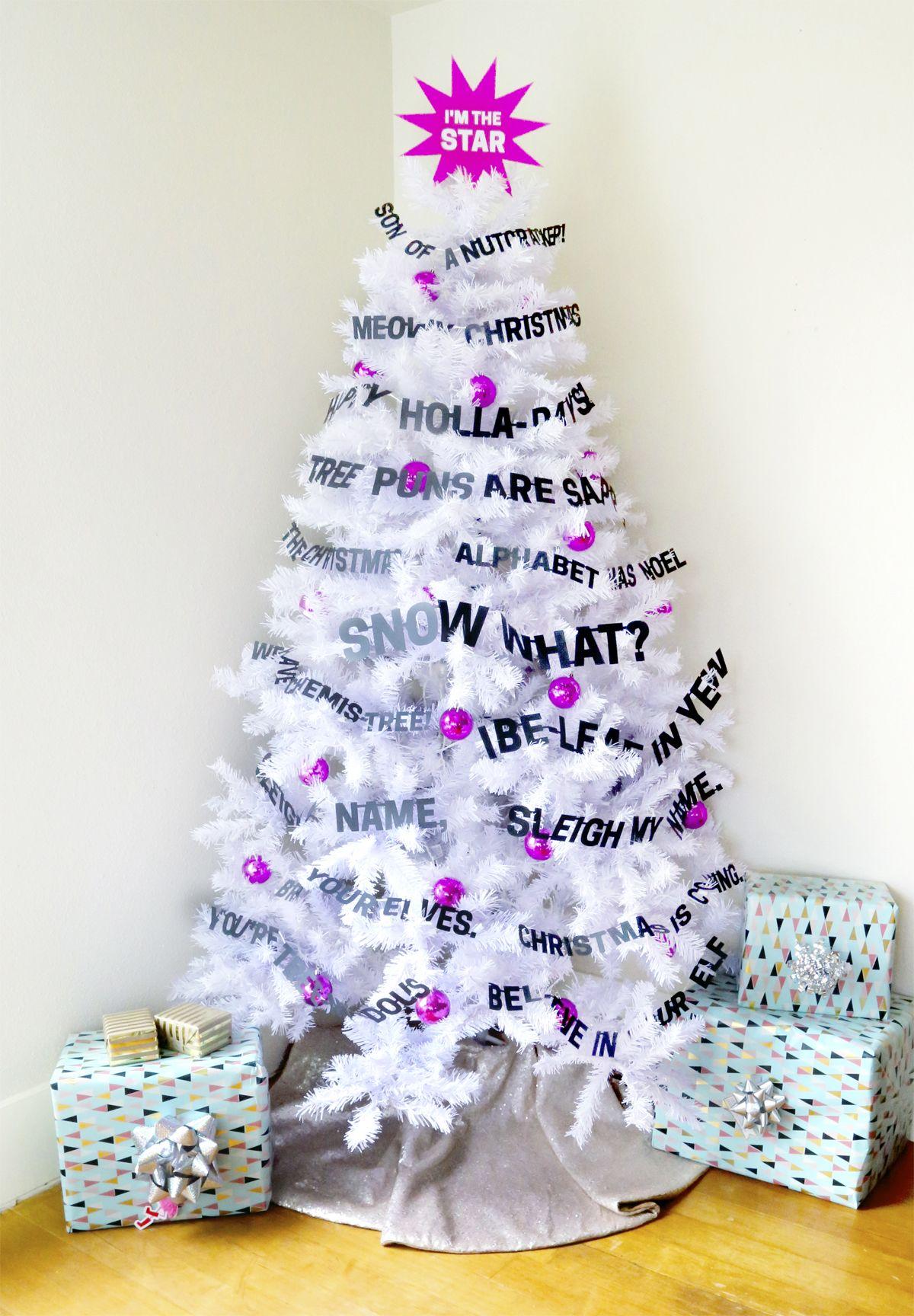 Day 3 of my 50 DIY Days of Christmas: Punny Christmas Tree