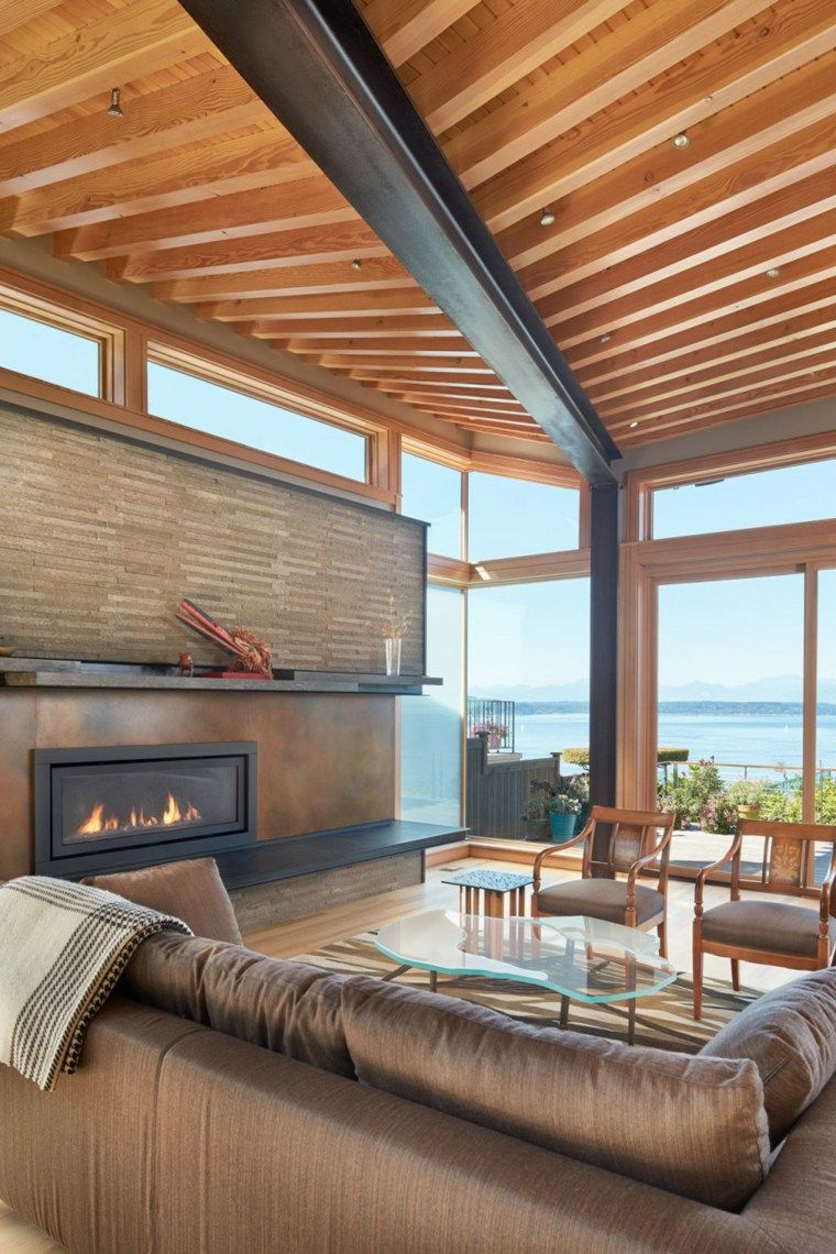 Wohnzimmer des modernen interieurs des hauses wohnmöbel des natürlichen designs im modernen haus  pinterest