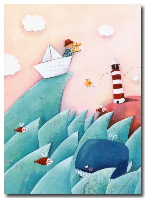 1 likes tumblr illustration pinterest illustration maritim und kinderzimmer wand - Kinderbilder wand ...