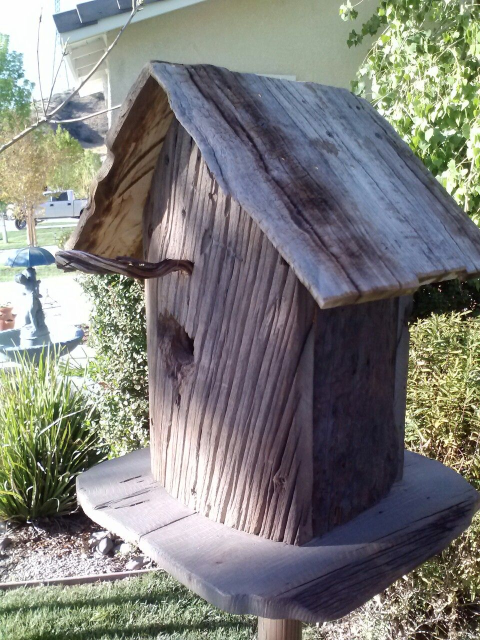 Rustic Bird House By Jeff Snow