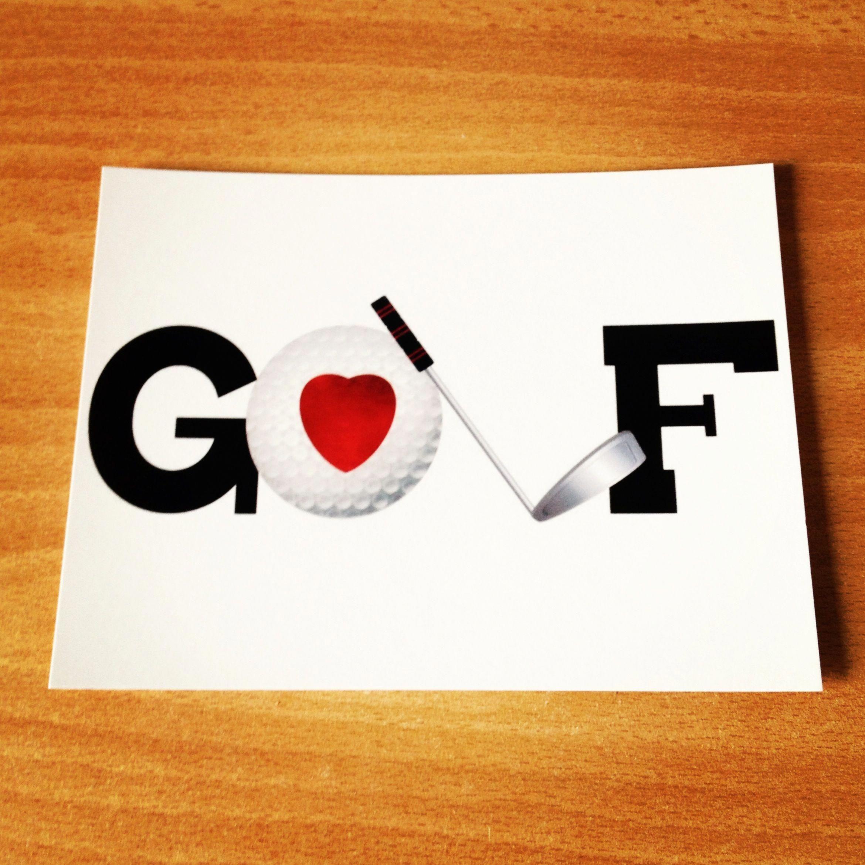 I love GOLF golftipstohitstraight Golf cards, Golf