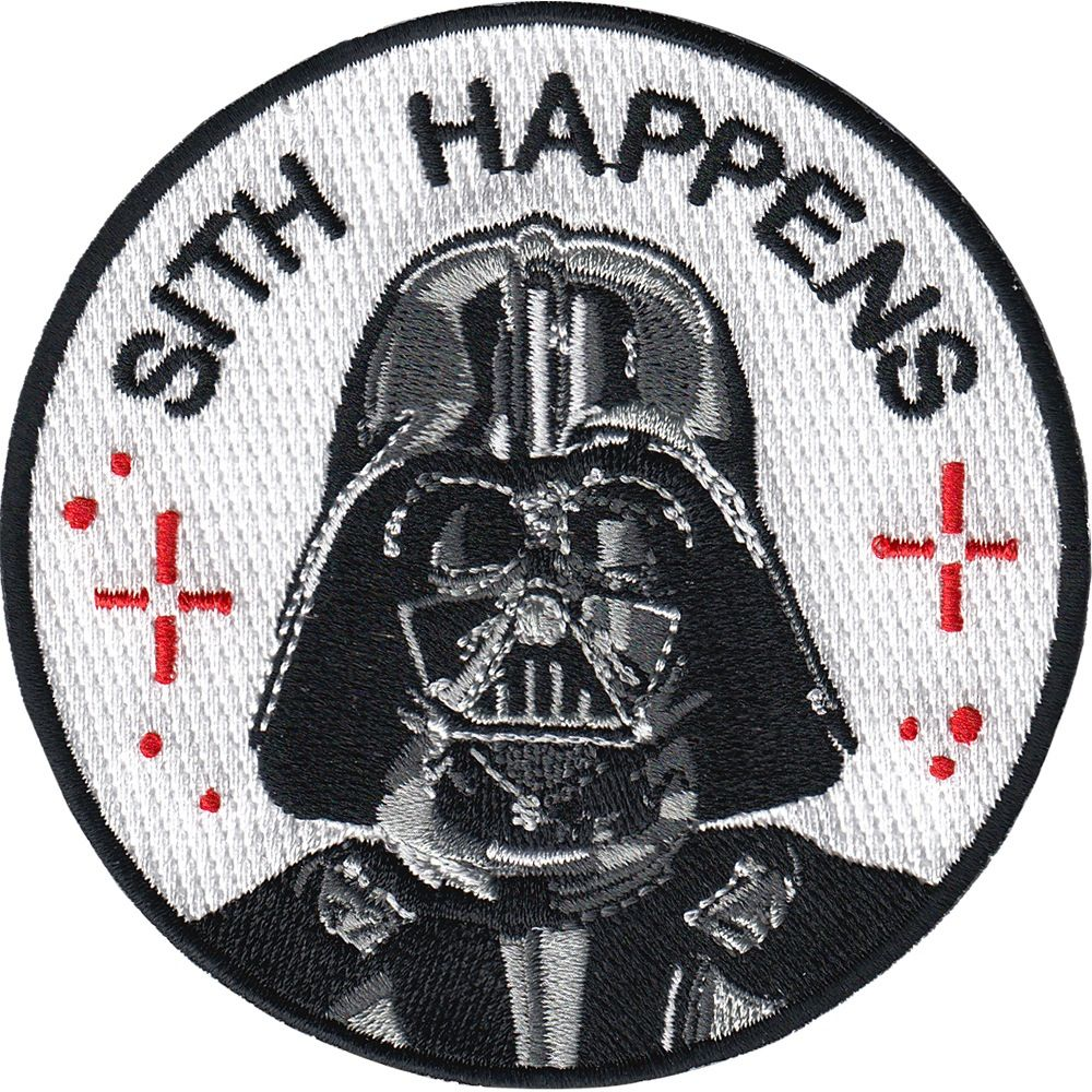 Sith Happens Patch Pinterest Darth Vader Patches And Spain