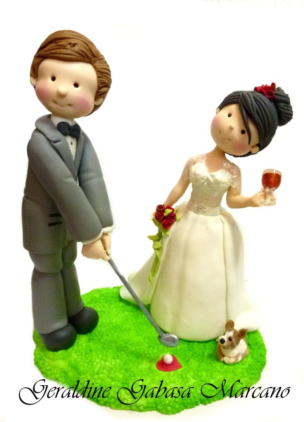 Wedding cake topper | Doris de todo un poquito | Pinterest | Clay ...