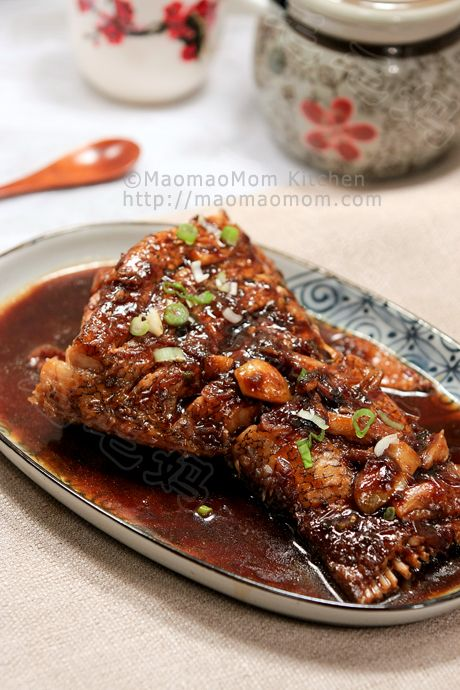 Braised fish in savory soy sauce by maomaomom this is a for Fish without bones