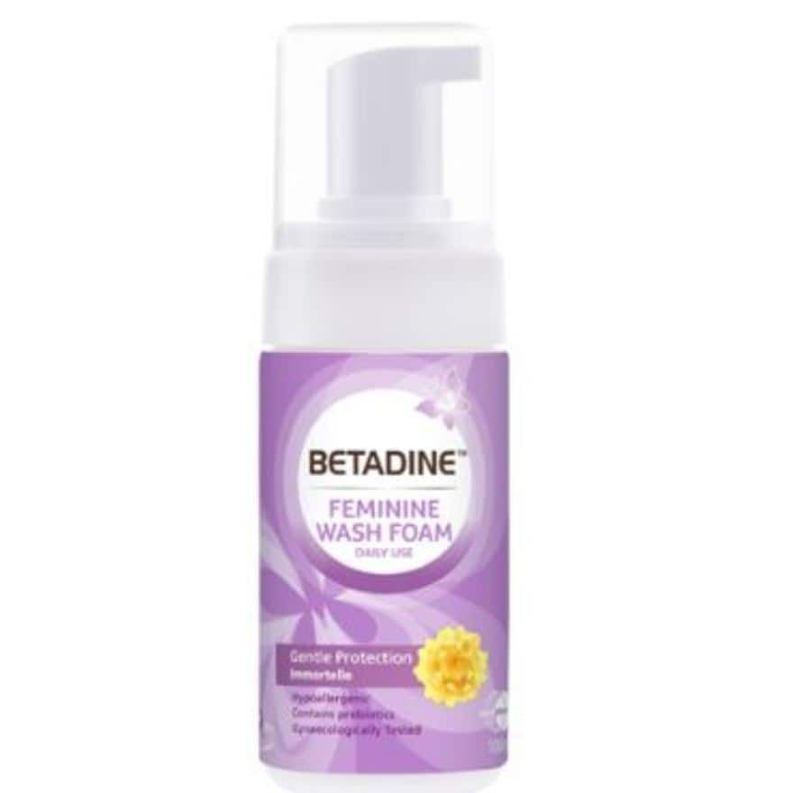 Betadine Feminine Wash Gentle Protection Foam 100ml Feminine