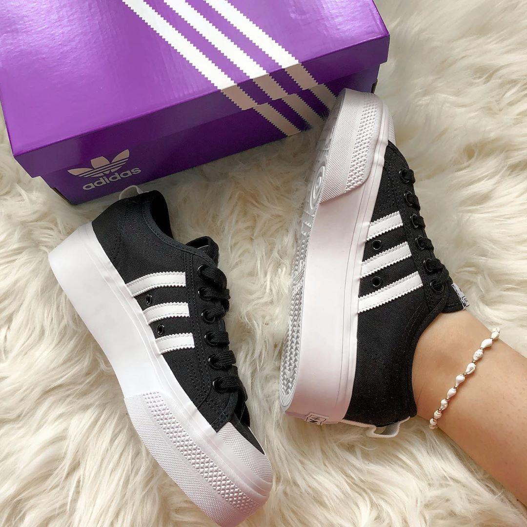 "reducir Cantidad de dinero Tantos  Sneaker Fam👟 no Instagram: ""Adidas Nizza Platform! Bei Adidas bekommt ihr  als Student mit UNiDAYS 35% Rabatt auf alles hab… | Fashion outfits,  Sneakers, Cute shoes"