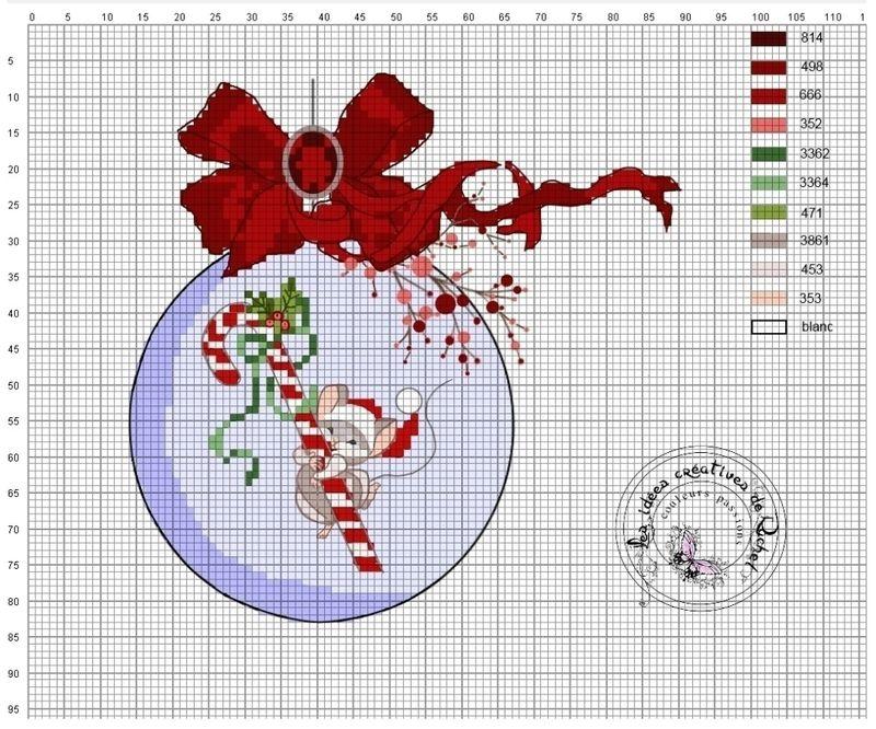 95-grille noel | Broderie | Pinterest | Punto de cruz, Puntos y Navidad