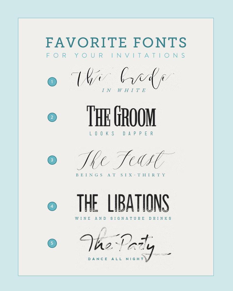 Five Fonts For DIY Wedding Invitations