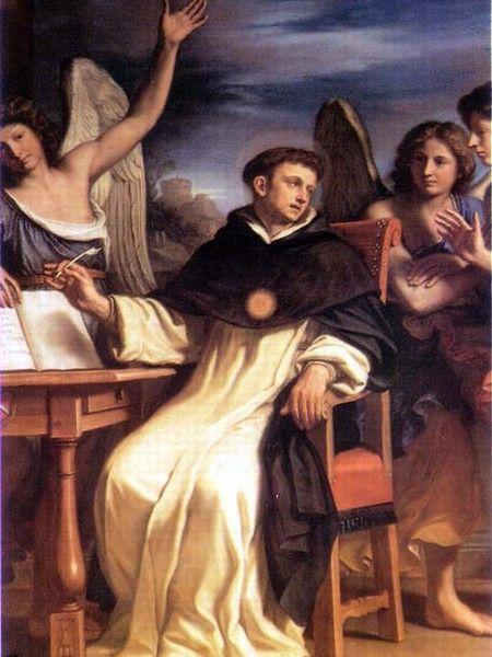 San Tommaso scrive l'Inno del SS. Sacramento - Guercino, Giovanni Francesco Barbieri - Scheda Opera Bologna - Arte.it