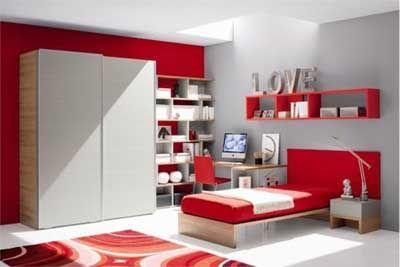 Un Dormitorio Gris Parece Soso Apagado Pero Si Le Aadimos Rojo Cambia Radicalmente