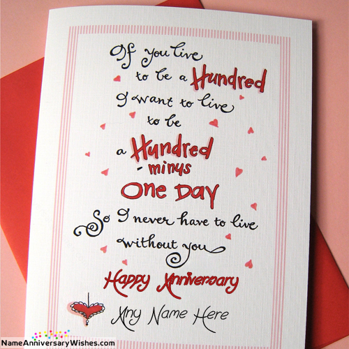 anniversary cards for wife and husband with name happy anniversary