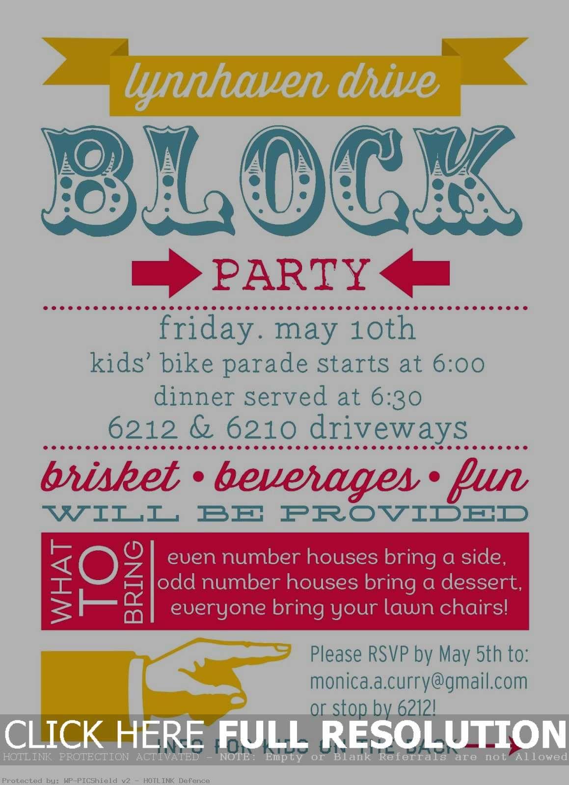 Dessert Party Invitations  Block party invitations, Neighborhood