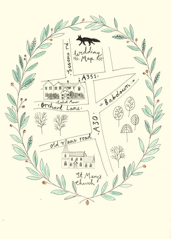 Wedding Map Wedding Stationery By Ryn Frank Www Rynfrank Co Uk