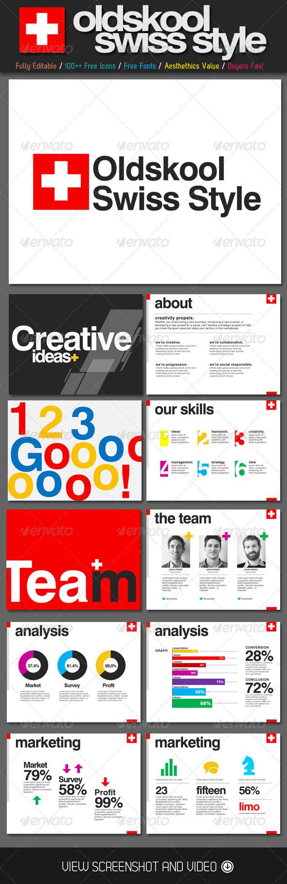 Oldskool swiss style powerpoint template creative powerpoint oldskool swiss style powerpoint template creative powerpoint templates toneelgroepblik Image collections