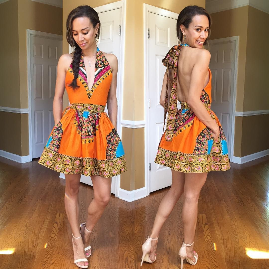 fa1522a25a Mélange Mode Halter Top Flirty Dress. www.shopmelangemode.com  melangemode   africanprint  maxidress  handmadefashion  atlantadesigner  dashiki ...