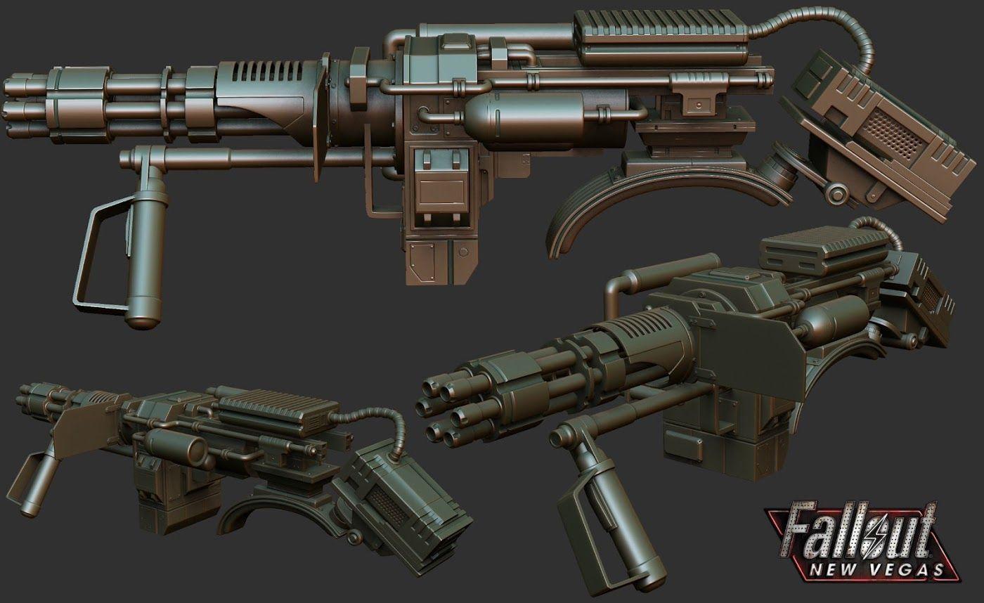Shoulder Mounted Machine Gun 2 3d Apocalypse Games