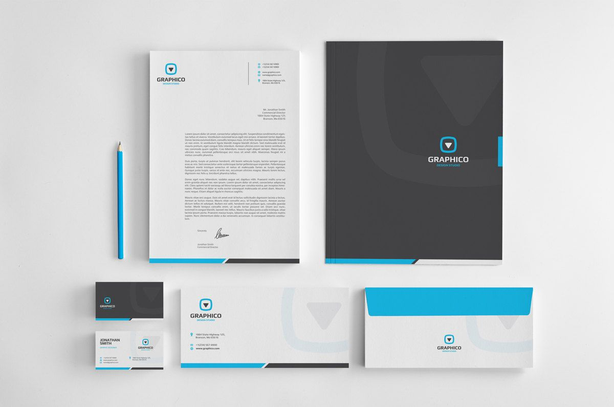 Corporate stationery design template business card letterhead corporate stationery design template business card letterhead envelope folder ai eps psd docx pdf instant download v1 cheaphphosting Image collections
