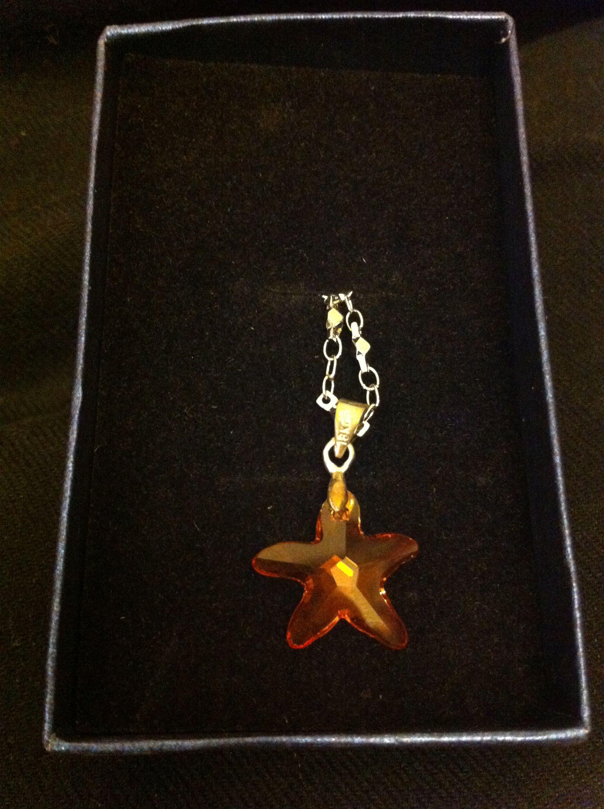 Swarovski Mandarine Crystal Necklace