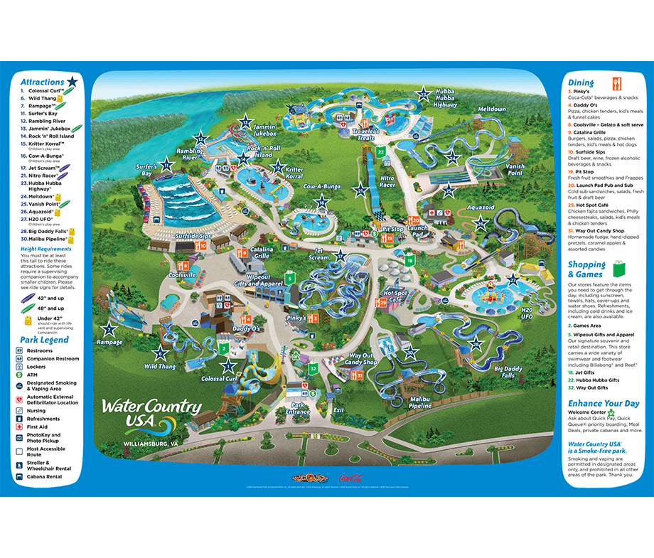 Water Country USA Park Map Williamsburg VA We Love Water Parks - Map of us wiliamburg virginia