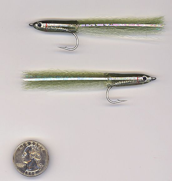 Popovics' Surf Candy in Olive.  An awesome baitfish imitation that is durable enough to use all day.